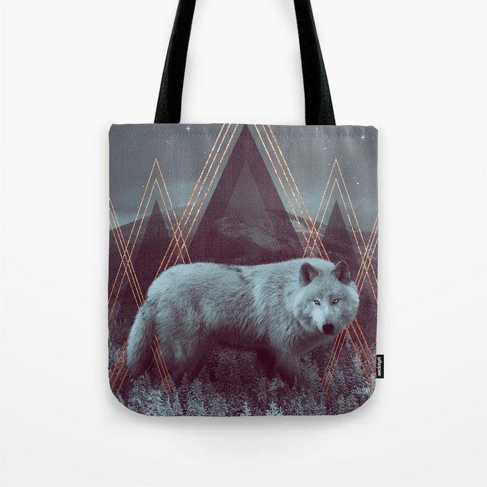 In Wildness   Wolf Tote Bag