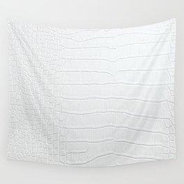 Realistic White Crocodile Skin Print Wall Tapestry
