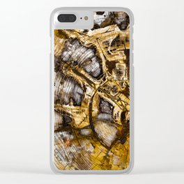 Sequoia Tree Cross Section Clear iPhone Case