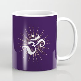Om Mantra Universal Energy Purple Coffee Mug