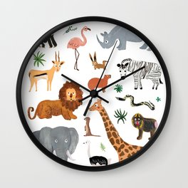 Safari Animals Wall Clock