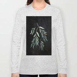 Eucalyptus Branches On Chalkboard II Long Sleeve T-shirt