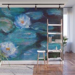 Blue Water Lilies Wall Mural
