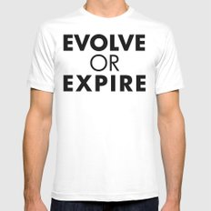 Evolve or expire MEDIUM Mens Fitted Tee White