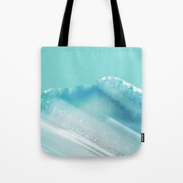 Geode Crystal Turquoise Blue Tote Bag