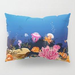 Beautiful Coral Reef Animals Pillow Sham