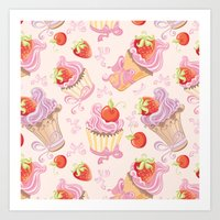 cupcakes Art Prints featuring Cupcakes by Julscela