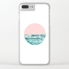 Sea and Pink Clear iPhone Case