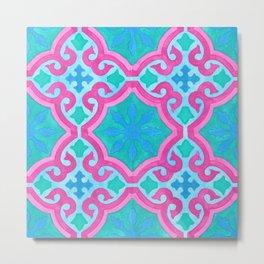 THE MOORS OF PALM SPRINGS, pattern by Frank-Joseph Metal Print