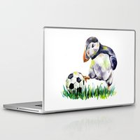football Laptop & iPad Skins featuring Football by Anna Shell