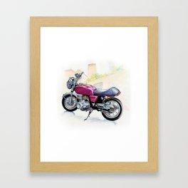 Rosso Honda (Motocicletalia) Framed Art Print