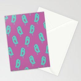 Little Birds (purple) Stationery Cards