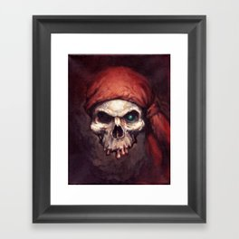 Pirate Skull Framed Art Print