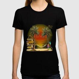 Hawaiian Tropical Sunset T-shirt