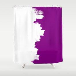 Purple imbalance Shower Curtain