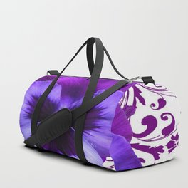 LILAC PURPLE PANSY SPRING FLORAL PATTERN Duffle Bag