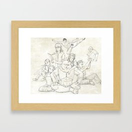 Dungeons and Dragons Group Framed Art Print