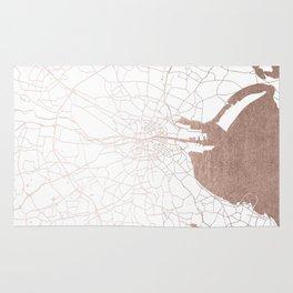 Dublin White on Rosegold Street Map II Rug
