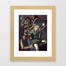 Link and Ganondorf Framed Art Print