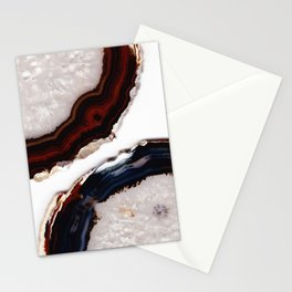 Red meets Blue - Agate Translucent #1 #decor #art #society6 Stationery Cards