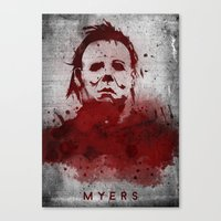 michael myers Canvas Prints featuring Myers by Colo Design