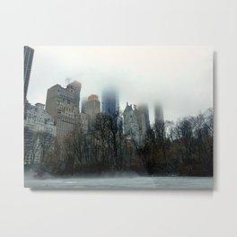 Gloomy Central Park Metal Print