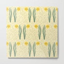 Daffodil Field Pale Yellow Metal Print
