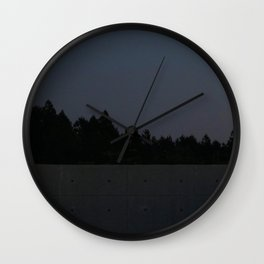 Concrete Forest Wall Clock