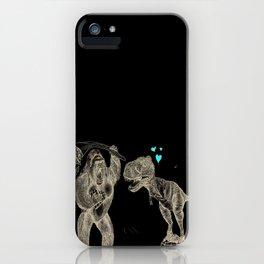 King Kong loves T-Rex iPhone Case