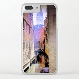 Venice Watercolour Clear iPhone Case