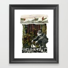Surfing The History Of Trees Framed Art Print