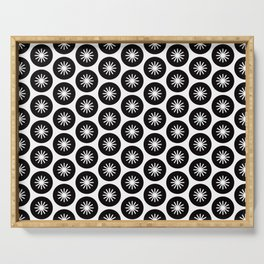 Geometric Pattern 244 (stars in circles 1) Serving Tray