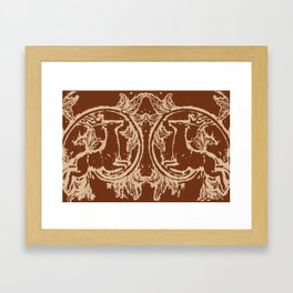 Chocolate Asheville Stags a Leaping Framed Art Print