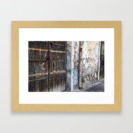 Antique Facade - Taormina - Sicily Framed Art Print