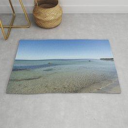 Shallow Waters At Danish Bornholm Island Rug