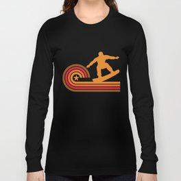 Retro Style Snowboarder Vintage Snowboarding Long Sleeve T-shirt