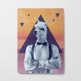 Llama Rama Metal Print