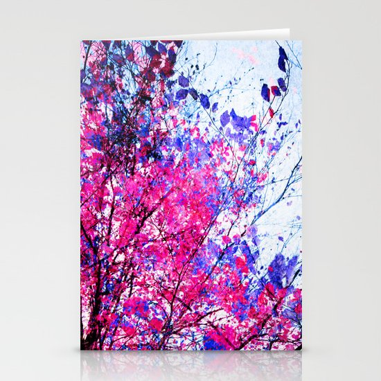 Pink Tree Stationery Cards