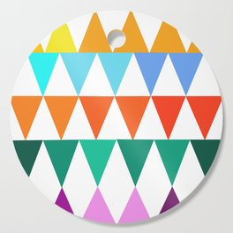 Triangles of Color Cutting Board