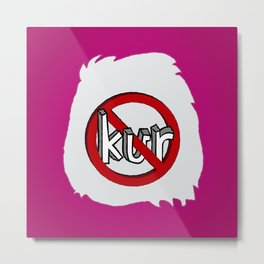 Dun Kur Bear [Don't Care Bear Pink] Metal Print
