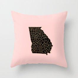 Georgia map Throw Pillow