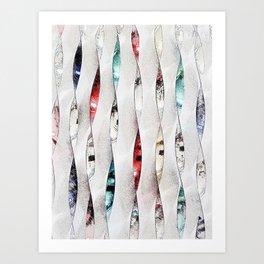 Nana's Spirals (light) Art Print