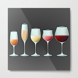 All the wine Metal Print