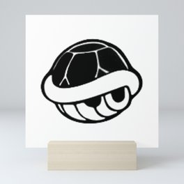 Turtle Shell Black Mini Art Print