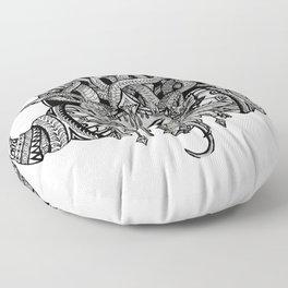 Medusa Mandala Floor Pillow