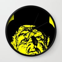 literature Wall Clocks featuring Outlaws of Literature (Ken Kesey) by Silvio Ledbetter