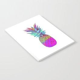 Retrowave Neon Pineapple Vaporwave Hawaiian Gift Notebook