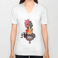 dramatical murder V-neck T-shirts featuring Murder Mind by Lewis Mclean