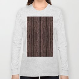 Brown braid jersey cloth texture abstract Long Sleeve T-shirt