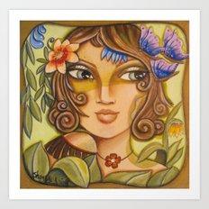 Mona Lisa's Butterflys Art Print
